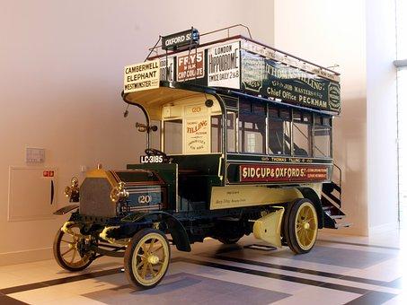 Milnes Daimler Omnibus, 1904, Car, Automobile, Vehicle