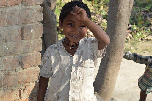 Child, Indian, Village, Boy, Smile, People, Happy