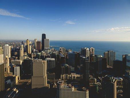 Chicago, City, John Hancock, Chicago Skyline, Skyline