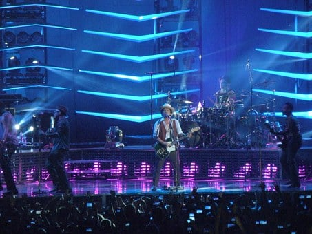Bruno Mars, The Hooligans, Singer, Concert, Group
