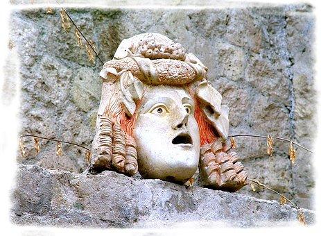 Statue, Herculaneum, Volcano, Vesuvius, Head, Fase