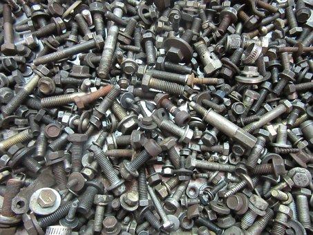 Bolts, Tools, M, Fix, Industrial, Metal, Steel
