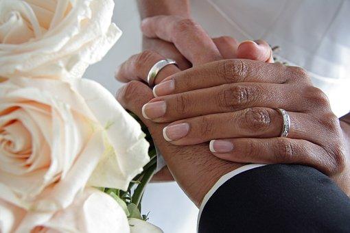 Couple, Hands, Wedding, Ring, Romantic, Marriage, Bride