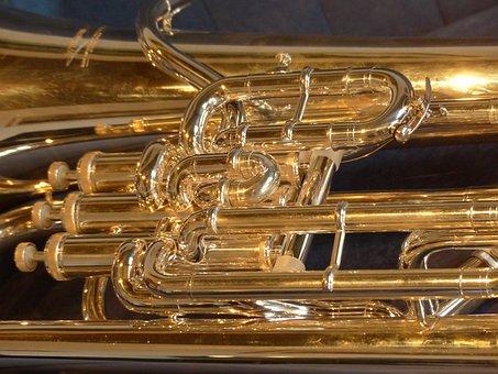 Euphonium, Brass Instrument, Instrument, Sheet, Music
