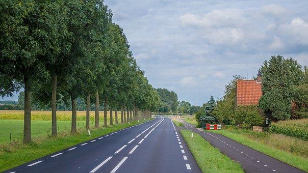 Holland, Road, Rural, Landscape, Nature, Summer