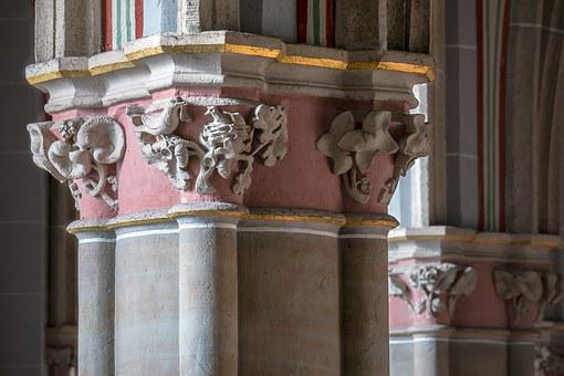 Pillar, Capital, Bird, Nest, Church, Ornament