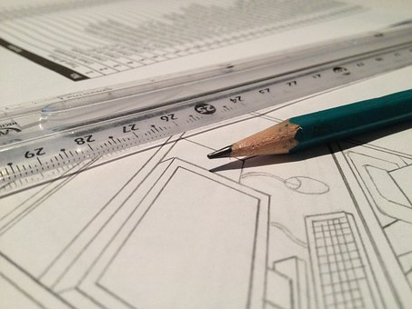 Rule, Technical Drawing, Pencil