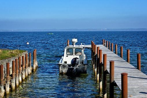 Boot, Jetty, Web, Lake, Chiemsee, Port, Investors, Pier