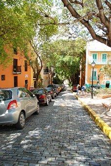 Old San Juan, Cobblestone Streets, Puerto Rico