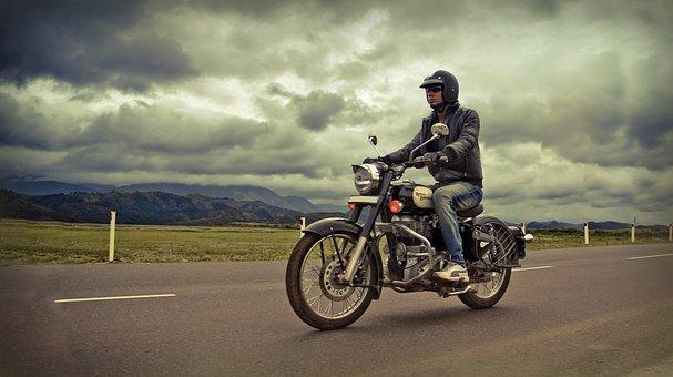 Bike Rider, Classic, Rider, Road, Royal Enfield, Trip