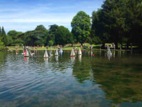 Boats, Park, Remote Controlled Boats, Sailing