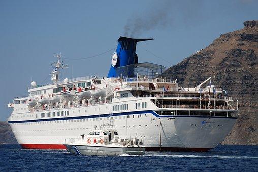 Steamer, Santorini, Sea, Cruise, Bay, Resort, Greece