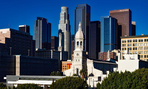 Los Angeles, California, Cityscape, Skyline, Downtown