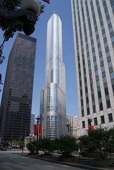 Chicago, Trump Tower, Architecture, Skyscraper