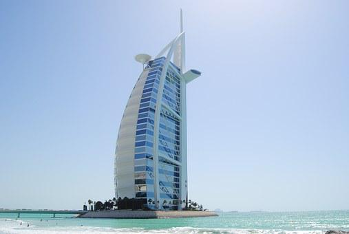 Dubai, Burj Al Arab, Sailing A Ship, Building, Uae