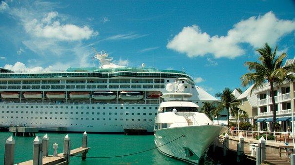 Florida, Coast, Ocean, Key West, Water, Ship, Sea