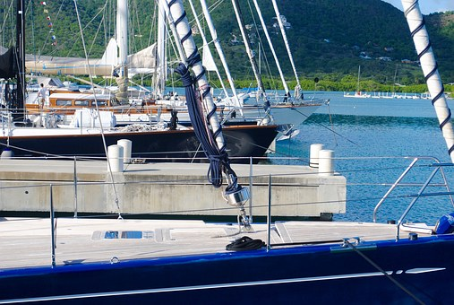 Sailboats, Sailing Yachts, Yachts, Yachting, Dock, Bow