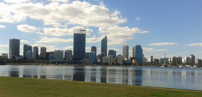 Perth, Australia, City, Skyline, Skyscraper, Cityscape