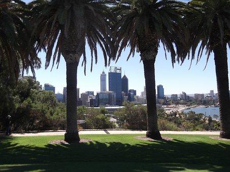 Perth, City, Trees, Australia, Park, Landscape