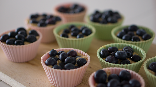 Baking, Blueberry, Cooking, Cupcakes, Dessert, Food