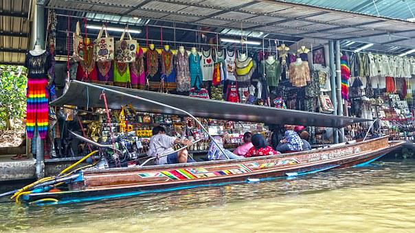 Damnoen Saduak Floating Market, Thailand, Bangkok