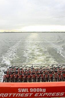 Rottness Island, Perth, Boat, Bikes, Transportation