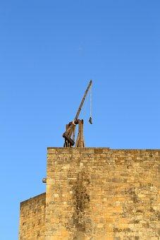 Trebuchet, Catapult, Castelnaud Castle, Medieval Castle