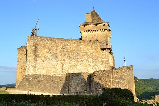 Castle, Catapult, Castelnaud, Medieval Castle
