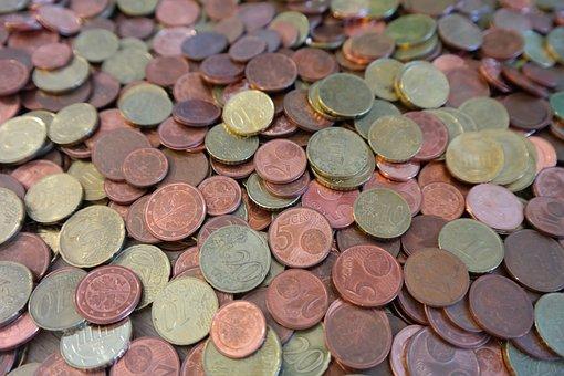 Coins, Cent, Specie, Money, Euro, Dime Pieces, Metal