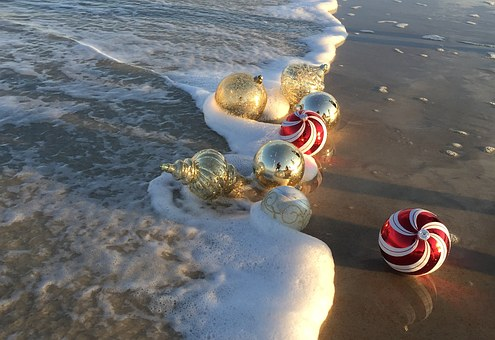 Beach, Christmas, Ornaments, Holiday, Christmas Beach