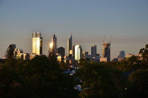 City, Perth, Skyline