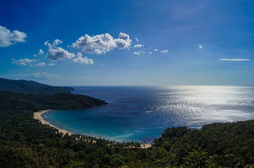 Beach, Clouds, Coast, Forest, Horizon, Mountain, Nature
