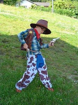 Kid, Boy, Cowboy, Costume, Child, Fun, Young, Cute