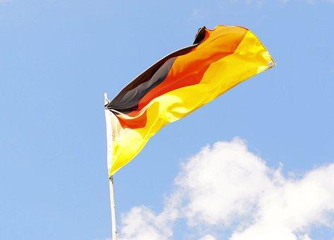 Flag, Flagpole, Sky, Germany, Wm2004 Brazil