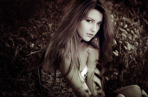 Portrait, Beauty, Face, Woman, Hair, Wind, Femininity