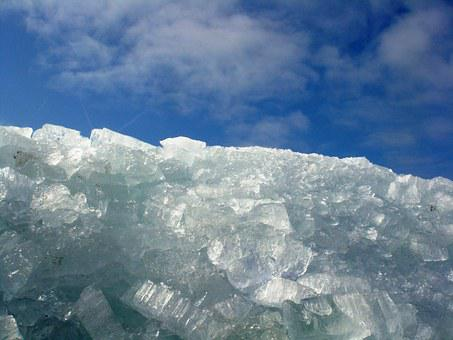 Ice, Ice Floes, Frozen, Shelf Ice, Blue, Heaven, Clouds