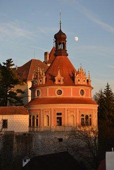 Roundel, Castle, Sky, West, Jindřichův Hradec, Blue