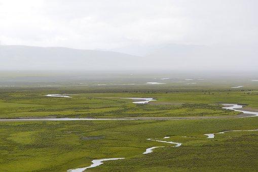 Prairie, Landscape, River