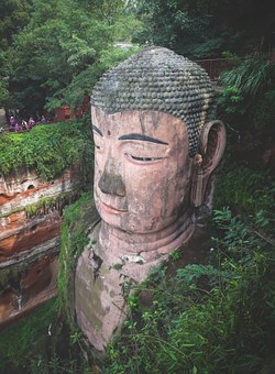 Leshan Giant Buddha, Culture, Statue, People, Tourists