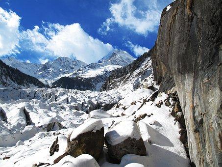 Sichuan, Luding, Hailuogou, Gongga Mountain, Glacier