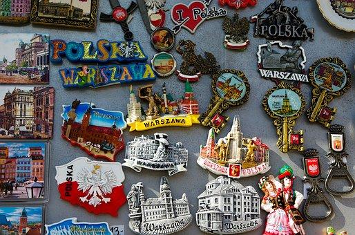 Poland, Warsaw, Tourism, Miniature, Magnets, Memories