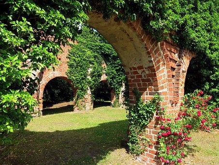 Archway, Masonry, Brick, Monastery, Heaven's Gate, Ruin