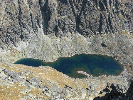 Lake, Mountains, Pond, Glacial Pond, Landscape
