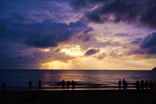 Malaysia, Beach, Sunset, Cloud, Nature, Outdoor