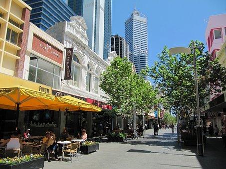 Perth, Australia, City, Cities, Café, Shops, Stores