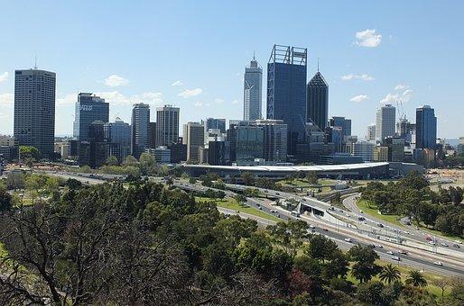 Perth City, Skyline, City, Australia, Perth, Building