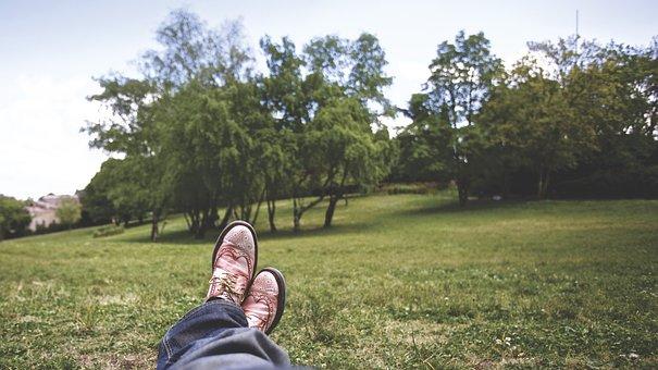 City Park, Feet, Grass, Green Grass, Relax, Relaxed