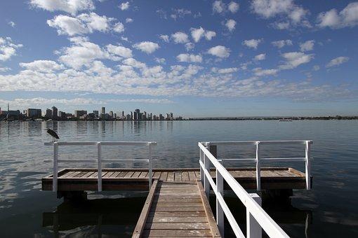 Jetty, Pier, Perth, Wa, Australia, Swan, River, Water