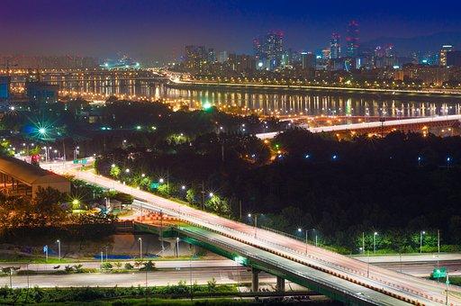 Eungbongsan, Night View, Bridge, Seongsu Bridge