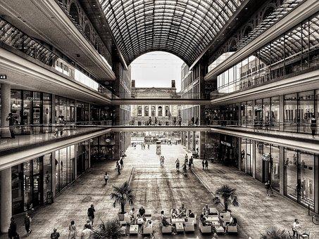 Berlin, Shopping, Leipzig Burst, Black White